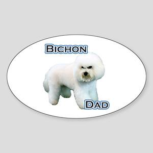 Bichon Dad4 Oval Sticker