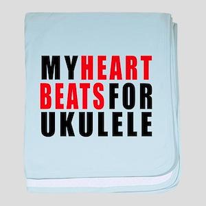 My Heart Beats For ukulele baby blanket