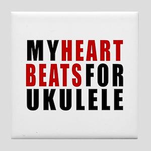 My Heart Beats For ukulele Tile Coaster