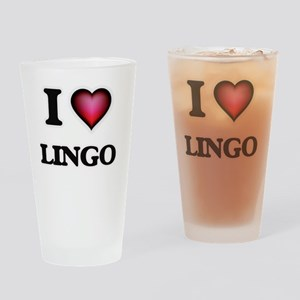 I Love Lingo Drinking Glass