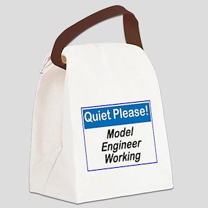 Quiet Please Model Engineer Working Canvas Lunch B