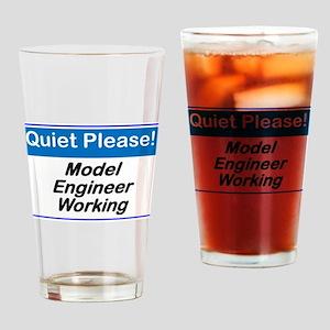 Quiet Please Model Engineer Working Drinking Glass