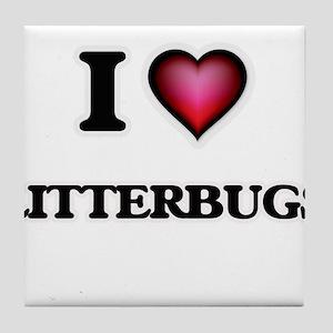 I Love Litterbugs Tile Coaster