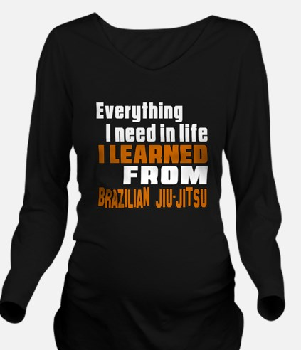 Everything I Learned Long Sleeve Maternity T-Shirt