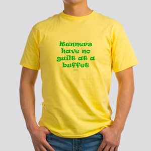 No guilt at buffet GREEN Yellow T-Shirt
