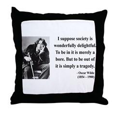 Oscar Wilde 15 Throw Pillow