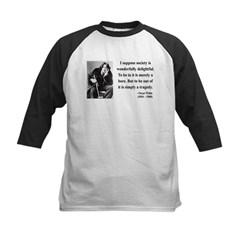 Oscar Wilde 15 Kids Baseball Jersey