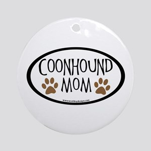 Coonhound Mom Oval Ornament (Round)