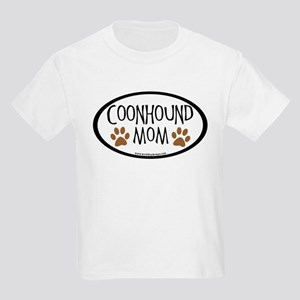 Coonhound Mom Oval Kids Light T-Shirt