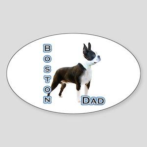Boston Dad4 Oval Sticker