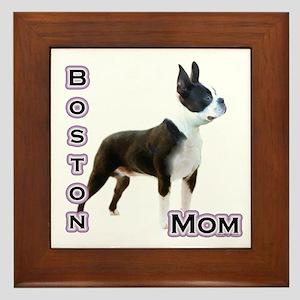 Boston Mom4 Framed Tile