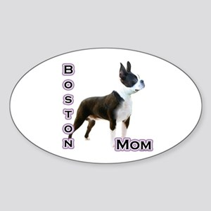 Boston Mom4 Oval Sticker