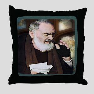 Saint Pio of Pietrelcina (Style B) Throw Pillow
