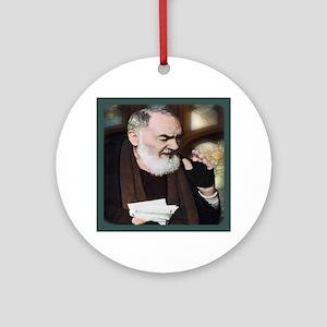 Saint Pio of Pietrelcina (Style B) Round Ornament