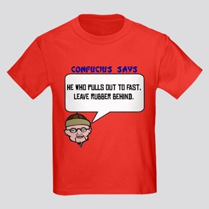 leave rubber behind Kids Dark T-Shirt