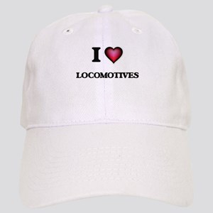 I Love Locomotives Cap