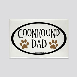 Coonhound Dad Oval Rectangle Magnet
