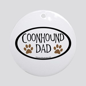 Coonhound Dad Oval Ornament (Round)