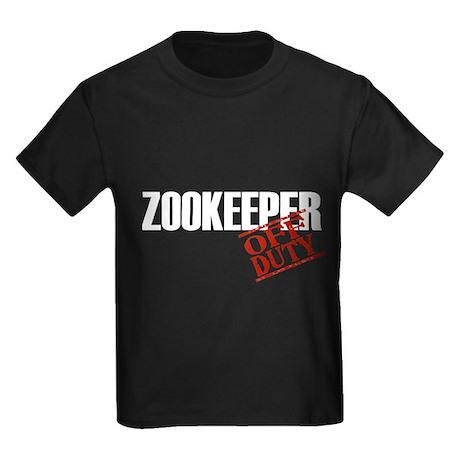Off Duty Zookeeper Kids Dark T-Shirt