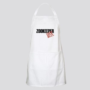 Off Duty Zookeeper BBQ Apron