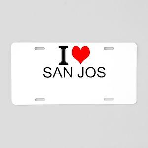 I Love San Jose Aluminum License Plate