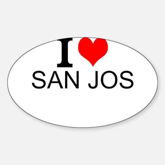 I Love San Jose Decal