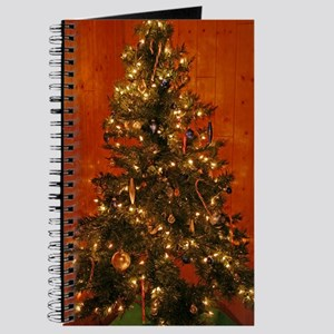 Log Cabin Christmas Tree Journal