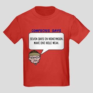 One hole weak Kids Dark T-Shirt