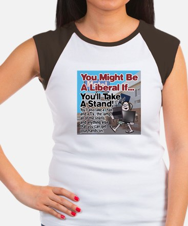 A Liberal Takes A Stand Women's Cap Sleeve T-Shirt
