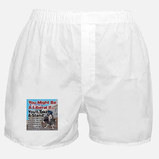 A Liberal Takes A Stand Boxer Shorts