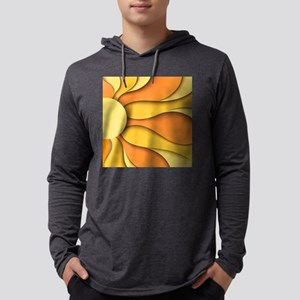 Abstract Sun Mens Hooded Shirt