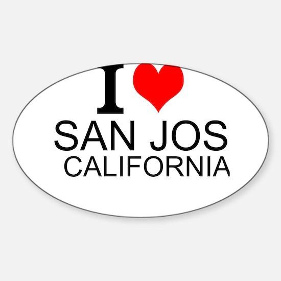 I Love San Jose, California Decal