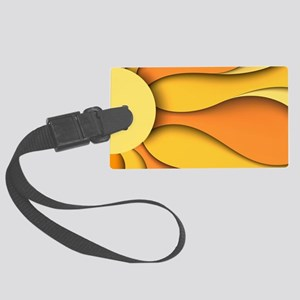 Abstract Sun Large Luggage Tag