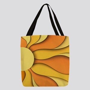 Abstract Sun Polyester Tote Bag