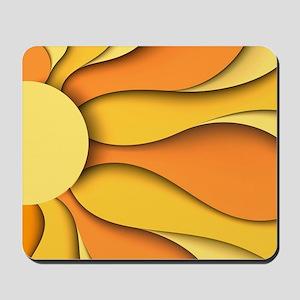 Abstract Sun Mousepad