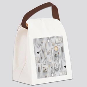 White Vanity Table Canvas Lunch Bag