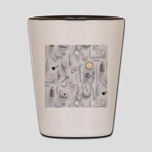 White Vanity Table Shot Glass