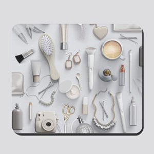 White Vanity Table Mousepad