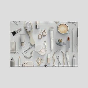 White Vanity Table Rectangle Magnet
