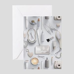 White Vanity Table Greeting Card