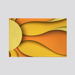 Abstract Sun Rectangle Magnet