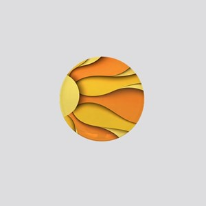 Abstract Sun Mini Button