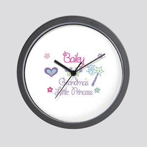 Bailey - Grandma's Little Pri Wall Clock