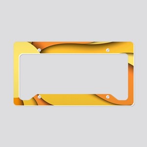 Abstract Sun License Plate Holder