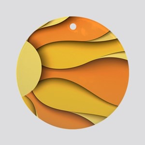 Abstract Sun Round Ornament
