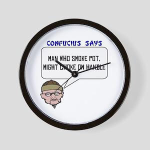 He who smoke pot Wall Clock