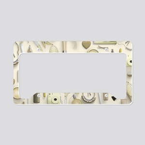 Yellow Vanity Table License Plate Holder