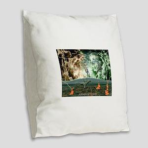 Battle Of Armageddon Burlap Throw Pillow