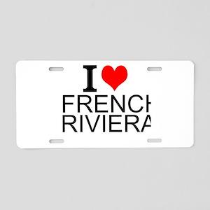 I Love French Riviera Aluminum License Plate