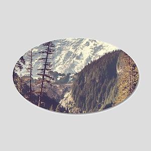Mount Rainier 20x12 Oval Wall Decal